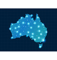 pixel Australia map with spot lights vector image vector image