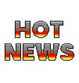 pixel hot news text detailed isolated vector image vector image