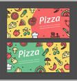 pizza signs banner horizontal set vector image vector image