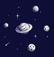 planets in space vector image vector image