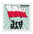 post stamp of national day of Poland vector image vector image