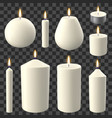 realistic candles holidays candlelight romantic vector image vector image