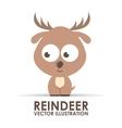 reindeer design vector image vector image