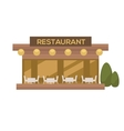 restaurant in flat design vector image vector image