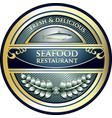 seafood restaurant icon vector image vector image