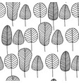 seamless pattern with colorless skeleton leaves vector image vector image