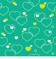 Seamless White Hearts Pattern vector image vector image