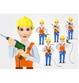 set of technical electrician or mechanic vector image vector image
