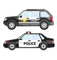set police automobiles urban patrol vehicle vector image vector image