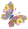 Spring bright colorful floral butterfly vector image vector image