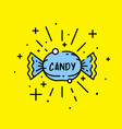 sweet candy icon vector image vector image