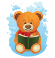 Teddy Bear with Book vector image vector image