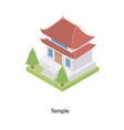 temple building architecture vector image