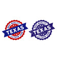 texas best quality stamp with grungy texture vector image