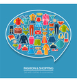 Thought bubble concept with clothes vector image vector image