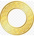 traditional vintage gold greek ornament meander vector image vector image