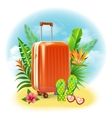 Travel Suitcase Design vector image vector image