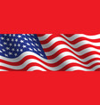 united state america flag wave vector image