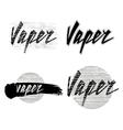 Vaper lettering vector image vector image