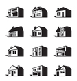 various types houses vector image vector image