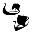 Viking ship icon Longship Isolated on white vector image vector image