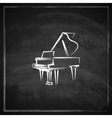 vintage with the grand piano on blackboard vector image vector image