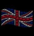waving great britain flag pattern of alien vector image vector image
