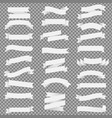 white ribbon set isolated transparent background vector image vector image