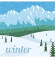 Winter landscape tourism background vector image vector image