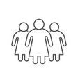 women or female group line icon vector image vector image