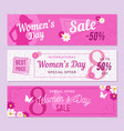 womens day banners vector image