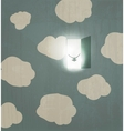 Abstract concept poster Dove flies through the vector image