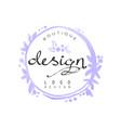 fashion logo design badge for clothes boutique