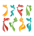 abstract dance vector image