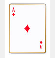 ace diamonds playing card vector image vector image