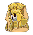 ancient pharaoh statue of a skull vector image