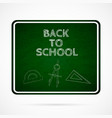 back to school over dark green board vector image