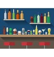 Bar counter flat vector image vector image