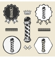 Barber pole vintage symbol emblem label collection vector image vector image