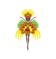 Brazilian Carnival Costume vector image