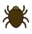 bug sign icon virus symbol software bug error vector image