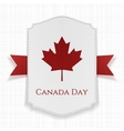 Canada Day national Label with Ribbon vector image vector image