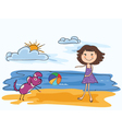 cartoon summer background vector image vector image