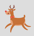 christmas cute reindeer character new year vector image