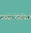 christmas horizontal seamless border vector image