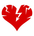 cracked heart icon simple style vector image vector image
