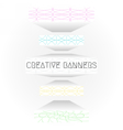 creative web banners vector image vector image