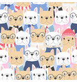 cute flat style french bulldog dog in gentle man vector image vector image