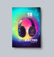 electronic music festival poster vector image vector image