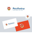 flowers ring logotype with business card template vector image